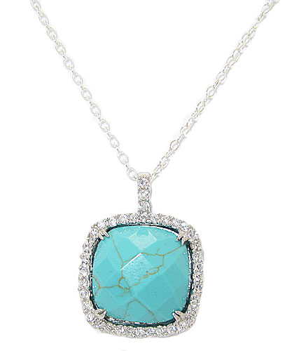 TURQUOISE & 925 STERLING SILVER PENDANT