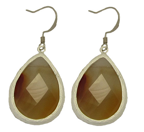 Genuine Natural Stone Earrings 1 inch
