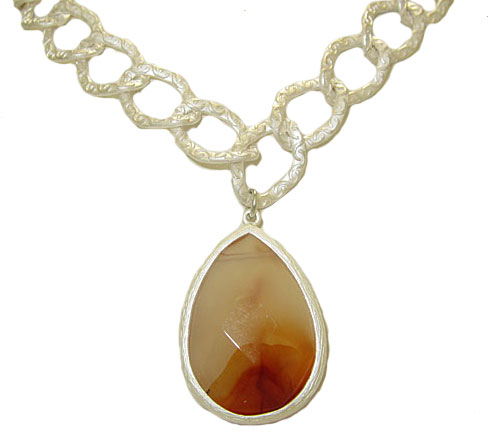 Orange Genuine Natural Gemstone Necklace