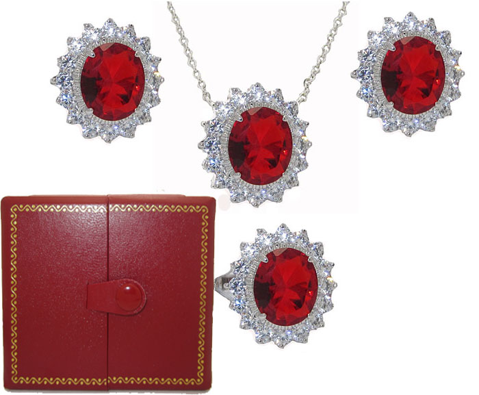 Princess Kate 3 Pcs Boxed Wholesale Set  Ruby