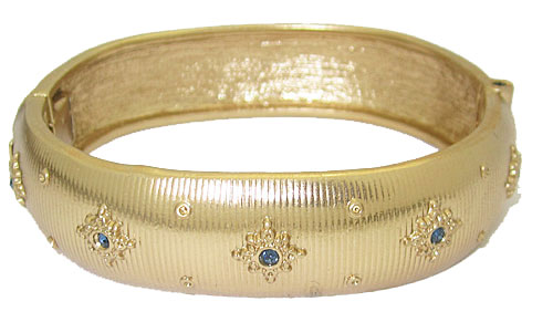Yellow Gold Hinged Bangle Bracelet