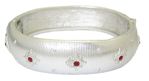 White Gold Hinged Bangle Bracelet