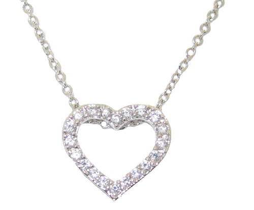 Wholesale Cubic Zirconia Heart Necklace