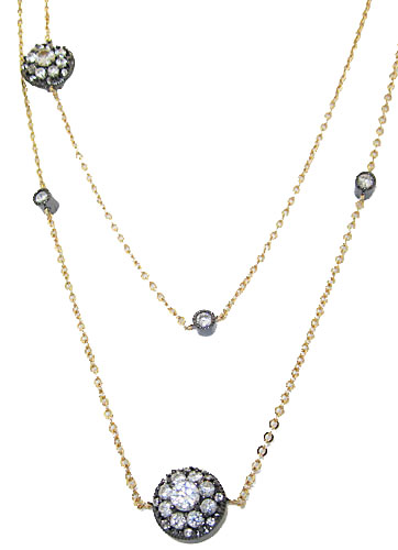 Cz & Gun metal  Wholesale Necklace