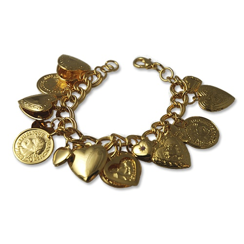Heart Locket  and Coin Bracelet