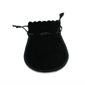 Black Velvet Suedline Pouches 12 pcs