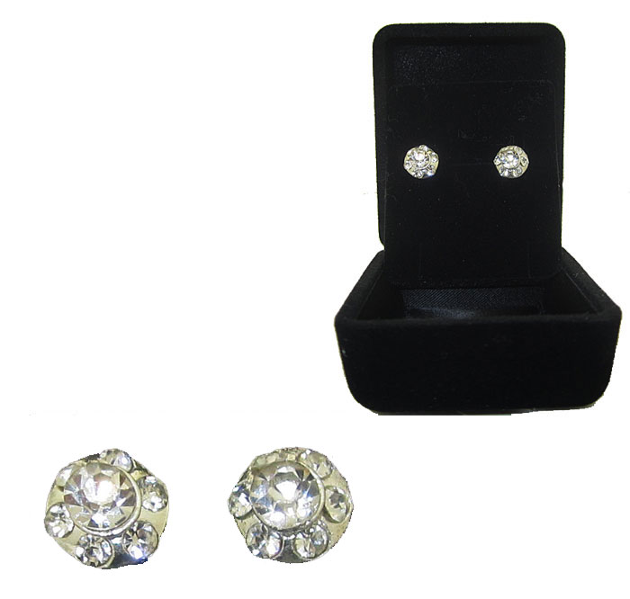 Crystal Stud Earrings wholesale earrings Boxed