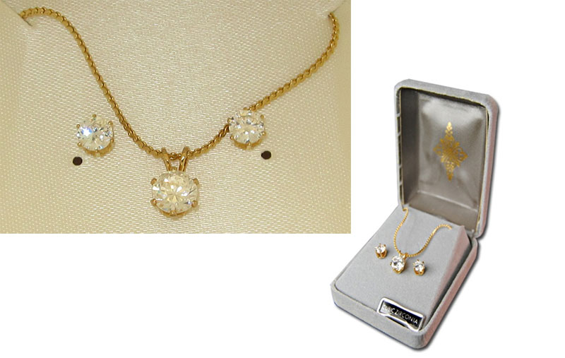 Stunning Cubic Zirconia Necklace Earring Set