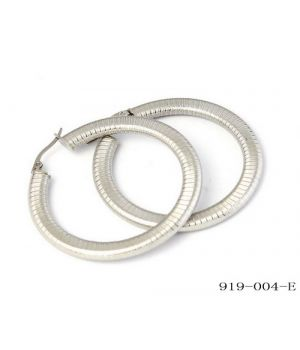 Stainless Steel Omega Hoop Earrings