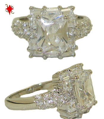 Emerald Cut Cz Celebrity's Clear White