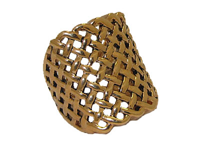 Open Weave Gold Ring