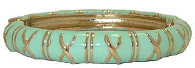 Enamel Bangle, hinged