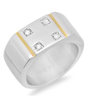 Thick Ring with Simulated Diamond wholesale jewelry
