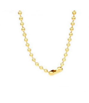 Gold Plated Ball Chain 18 Karat Gold