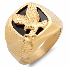 Jet Ring Yellow Gold Ring in Stainless wholesale jewelry