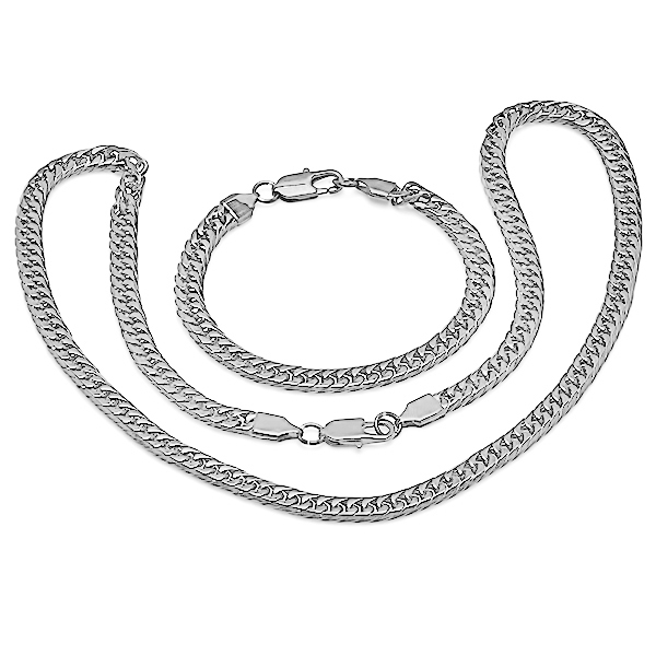 Stainless Steel Bracelet and Necklace Set