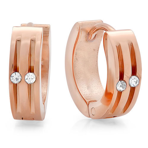 Rose Gold Stainless Steel Earrings