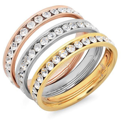 Steel Tri Color Rings