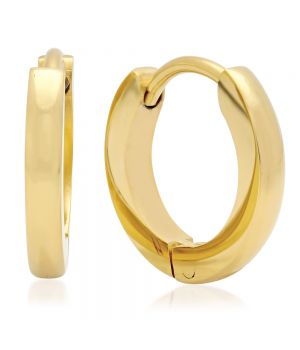 18KT GOLD PLATED STAINLESS STEEL EARRINGS
