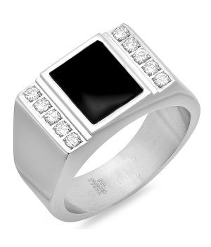 IP Black Plated Stainless Steel Ring