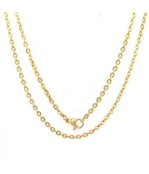 Stainless Steel Chain 18 inches in gold