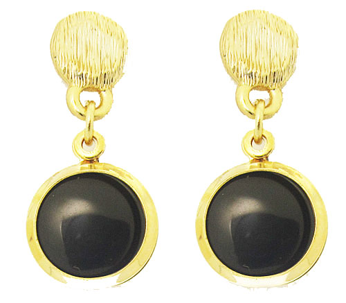 MX Signature Collection Onyx & Gold Earring