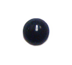 15 Wholesale 10mm Flat Back Black Stones