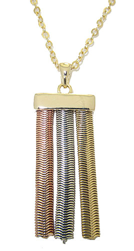 MX Tri Color Necklace Rose, White & Yellow Gold