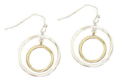MX Wholesale Two Tone Earrings