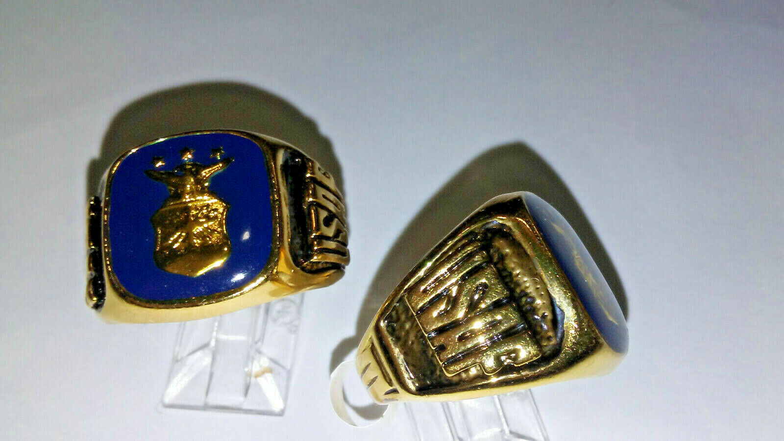Air Force Ring Blue Enamel gold plate US made NWT