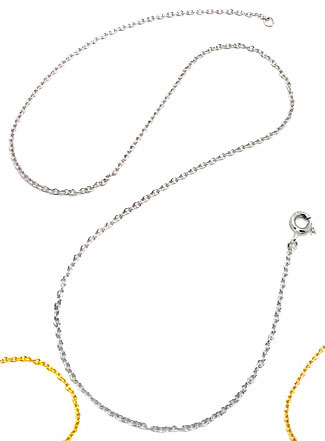 Sterling Silver Neck Chains Yellow on Sterling