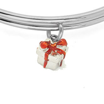 Expandble Bracelet in Sterling Plate & Sterling Gift Charm