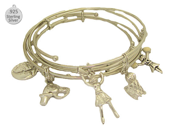 Expandable Bracelet with Sterling Fun Charm