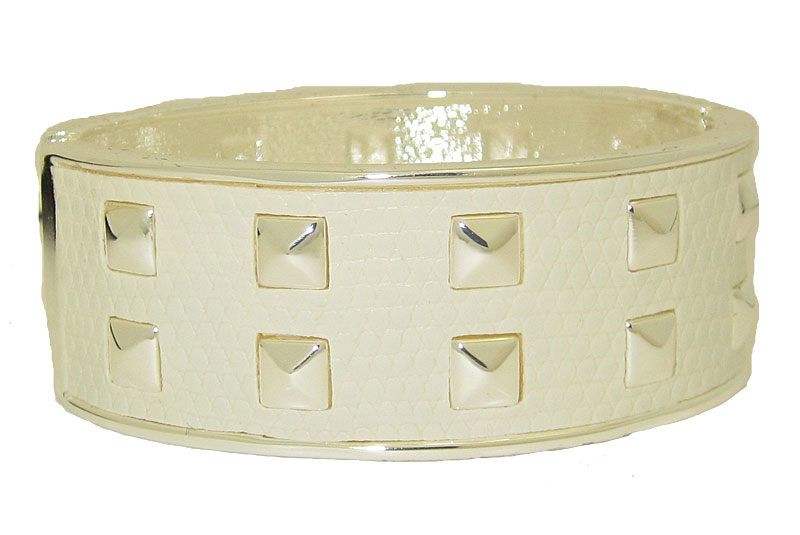 White and Silver Bangle Bracelets