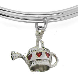 Expandble Bracelet in Sterling Plate & Sterling Watering Can
