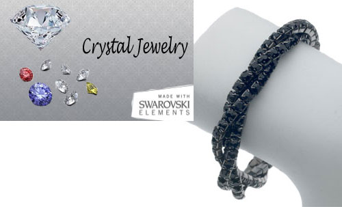 Genuine Swarovski Black crystal wholesale bracelet