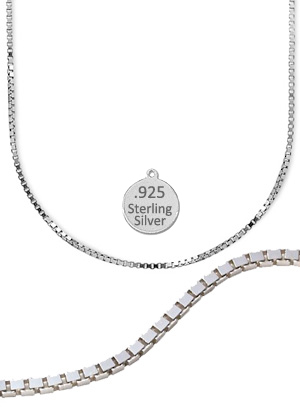 Sterling Silver 16 inch Box Chain