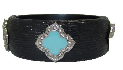 Black MX Designer Resin Bangle Bracelets