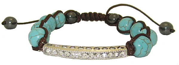 Hand Wrapped Turquoise Bracelet