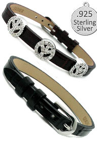 Leather Bracelet Black for Slide Wholesale Charms