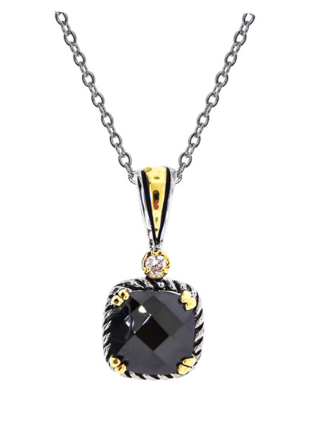 Wholesale Jet Black Cubic Zirconia Necklace