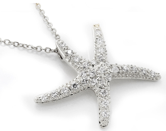Star Fish Wholesale Necklaces White Gold