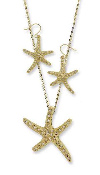 Starfish 2 pcs. Earring Necklace Set