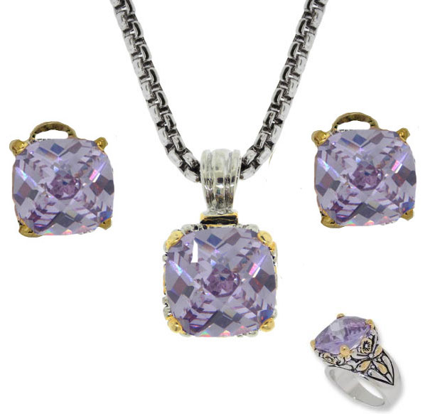 Designer Cable Jewelry 3 pcs Set in Lavender