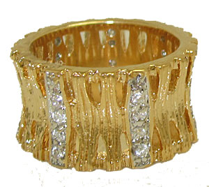 Yellow Gold Fashion Designer wholesale Ring at low price