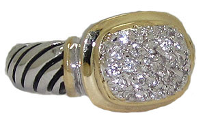 CZ Designer Cable Ring