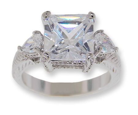 White CZ classic ring