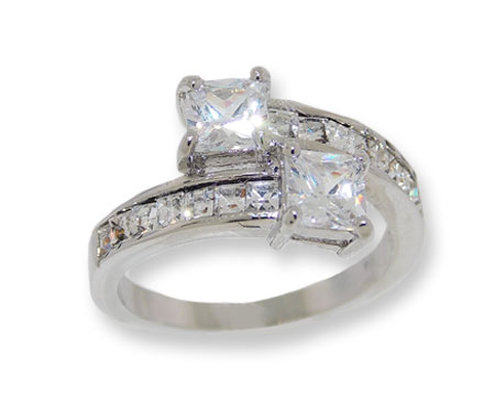 White CZ's Wholesale Ring