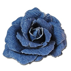 Coldwater Creek Denim Flower Pin