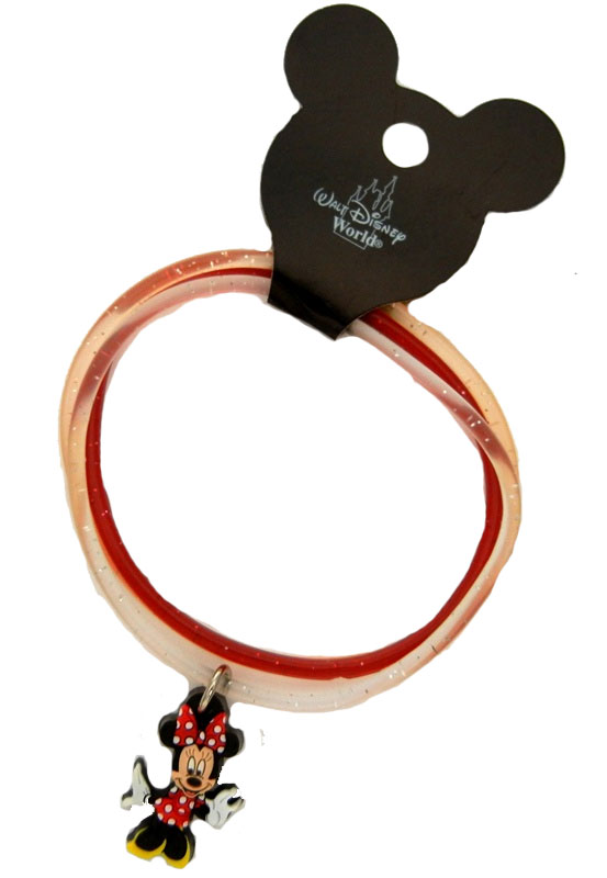 Authentic Disney 3 Piece Bracelet with Minnie Mouse Pendant